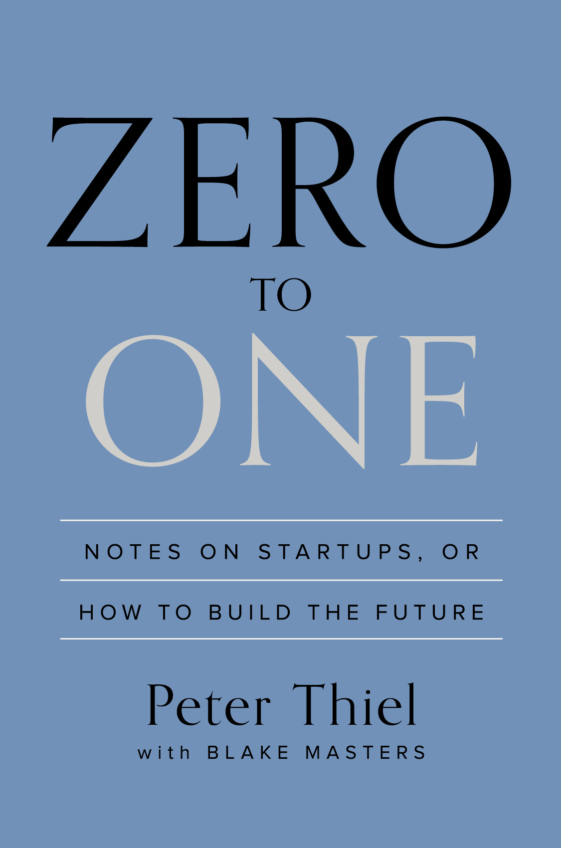 executive book summary - zero to one