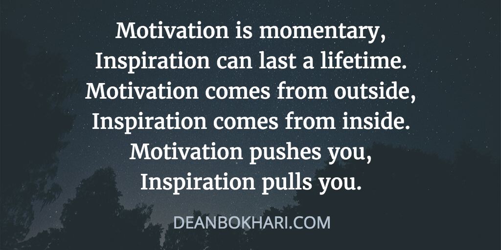 Pictures And Inspiration: Inspiration Vs Motivation