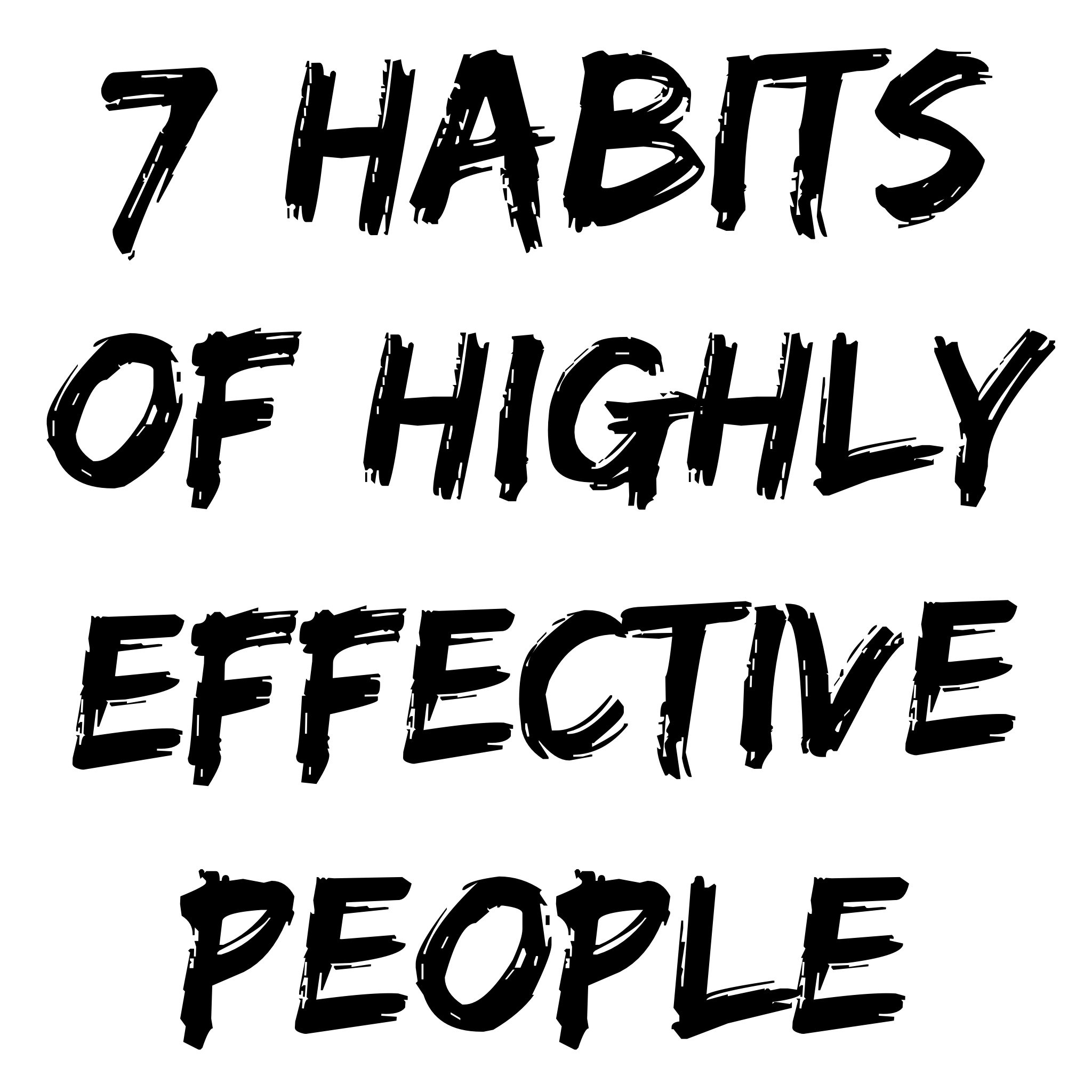 7 habits of highly effective people research paper Position paper on stephen covey's, seven habits of highly effective people mg 401 senior seminar in management introduction in 1989, stephen covey's book the 7 habits of highly effective people started a landmark revolution in how we think about time and life management.